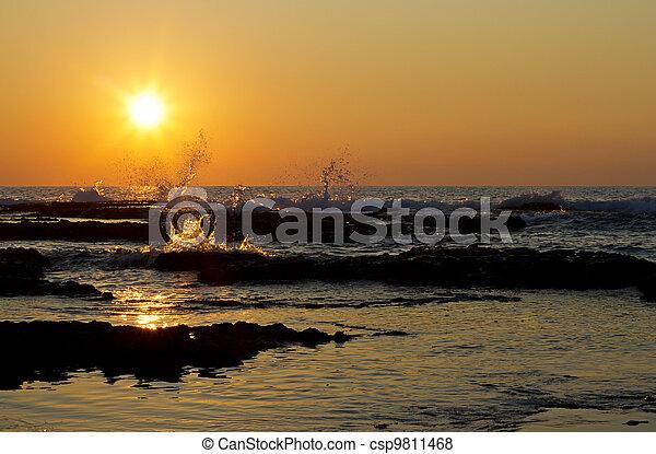 Mediterranean Sea, sunset