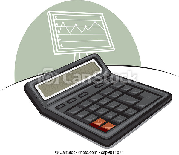 electronic calculator - csp9811871