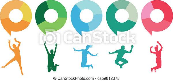 people jumping - csp9812375