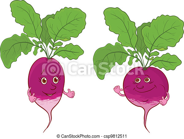 Character radish - csp9812511