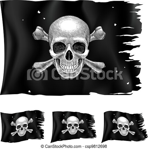 Three types of pirate flag - csp9812698