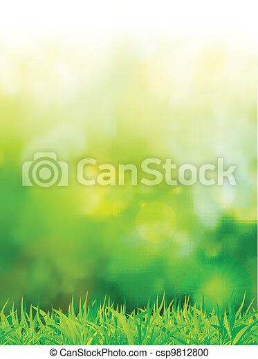 natural green background with selective focus - csp9812800