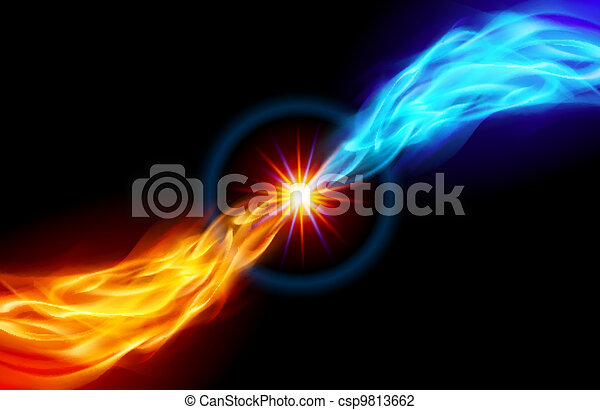 Bright fiery Star - csp9813662