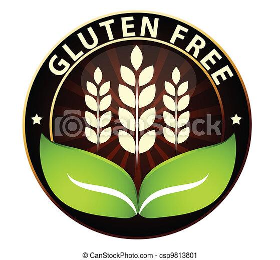 Gluten free food icon - csp9813801