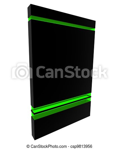 Software box black-green - csp9813956