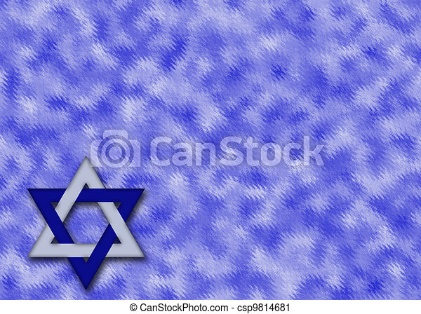 Blue and silver Star of David - csp9814681