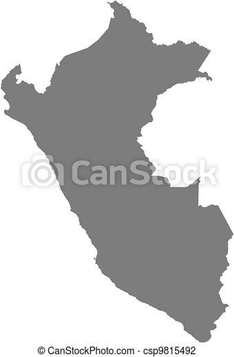 Map of Peru - csp9815492