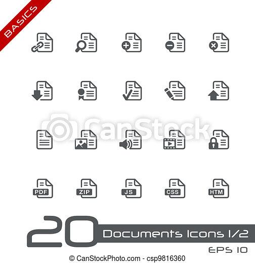 Documents Icons - 1 of 2 // Basics - csp9816360