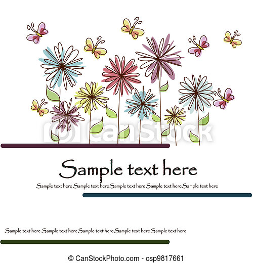 Beautiful flower card - csp9817661