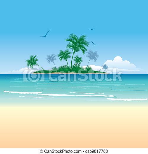 Tropical island - csp9817788