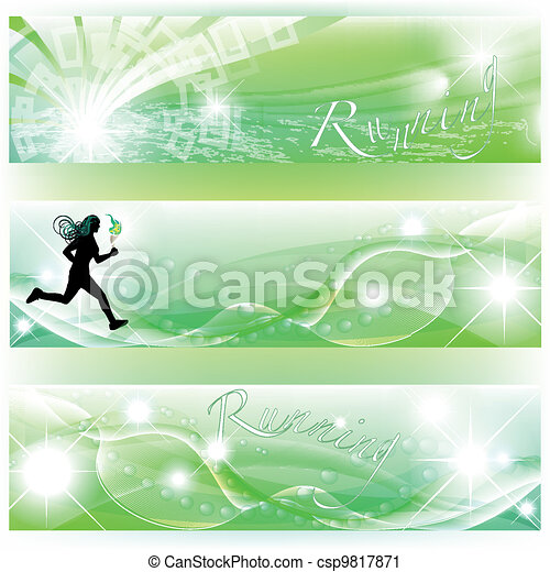 Set of 3 banners with runner - csp9817871