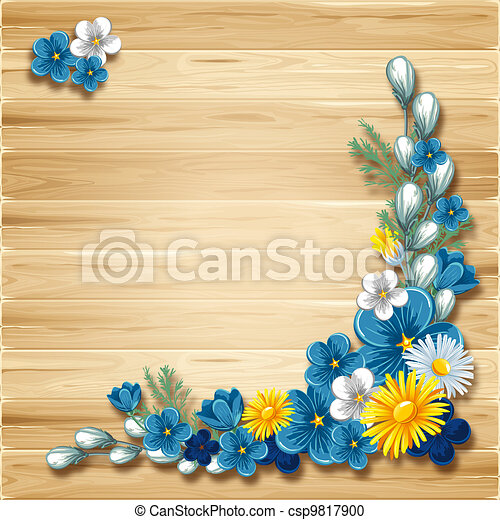 Wooden background - csp9817900