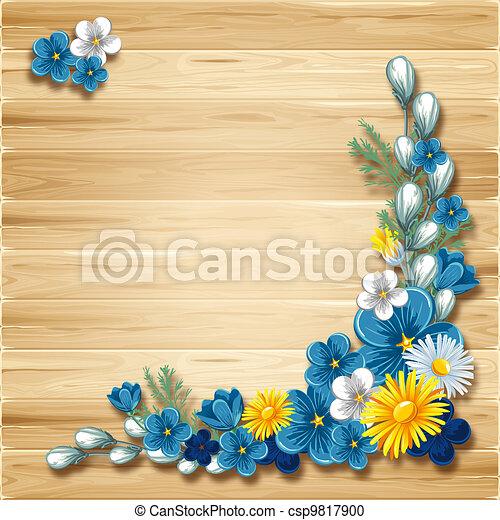 Wooden background - csp9817900