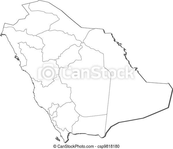 Map of Saudi Arabia - csp9818180