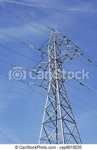 High Tension Wires - csp9818235