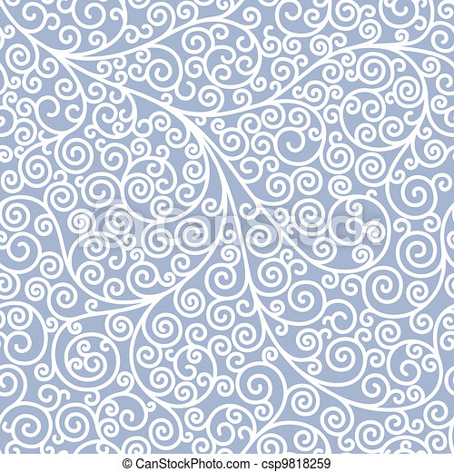 Seamless background with curls - csp9818259