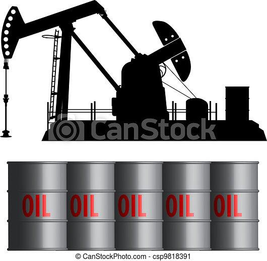 Oil Barrel Drawing Oil Field And Barrels