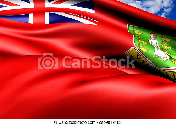 Flag of British Virgin Islands - csp9819483