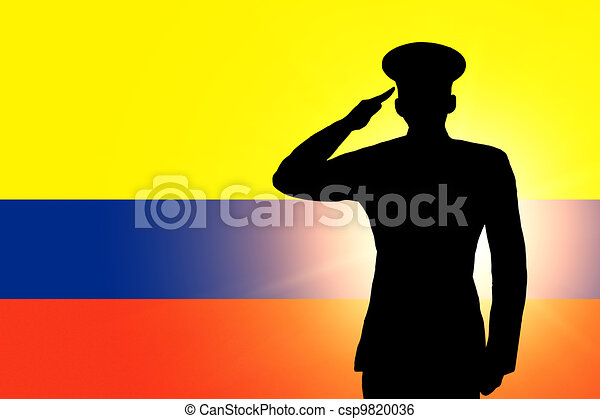 The Colombian flag - csp9820036