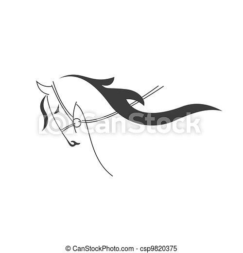 Horse symbol - csp9820375
