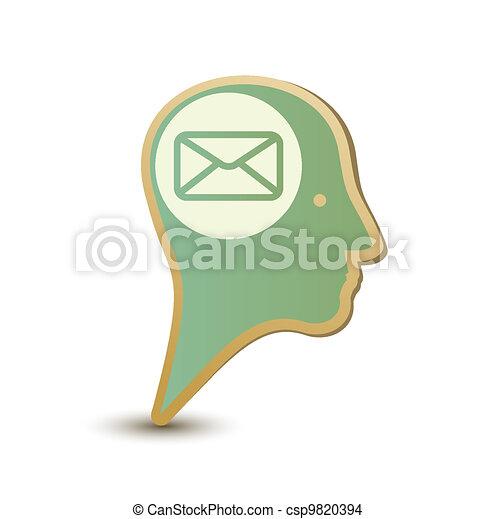 Mail man. Label sticker. Modern concept - csp9820394