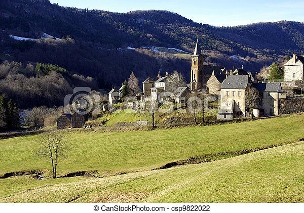 Typical rural village - csp9822022