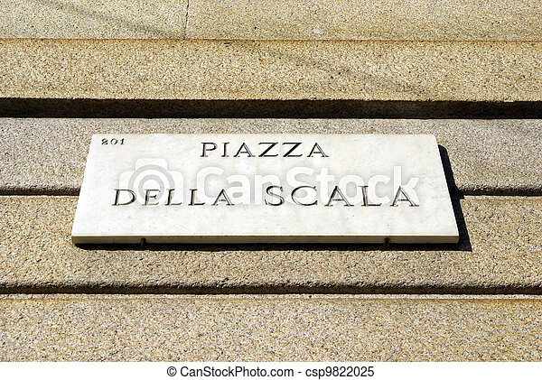 Notice board of piazza Scala - csp9822025