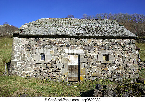 Typical rural shelter - csp9822032