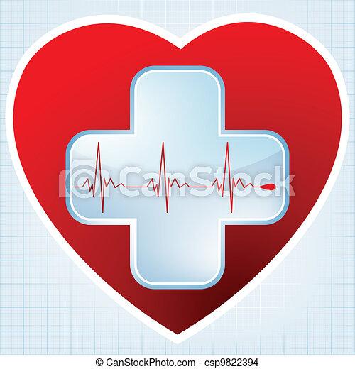 Heart medical cross. EPS 8 - csp9822394