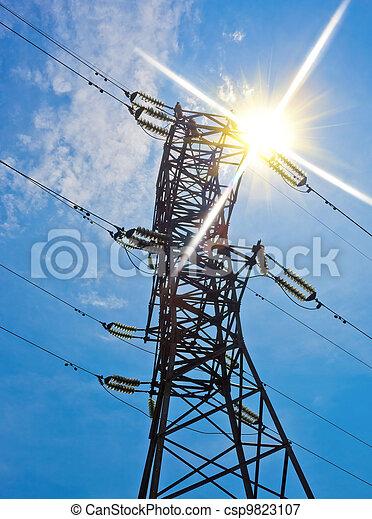 High voltage electricity pylon
