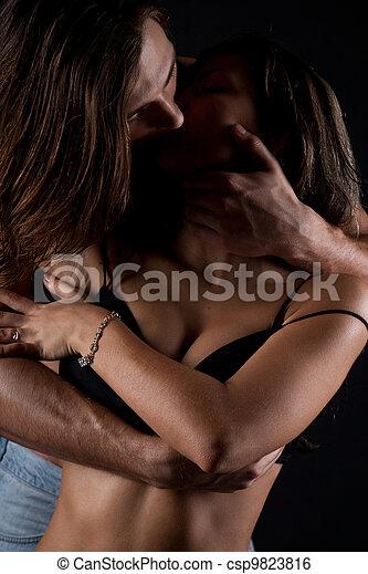 Passionate couple having sex - csp9823816