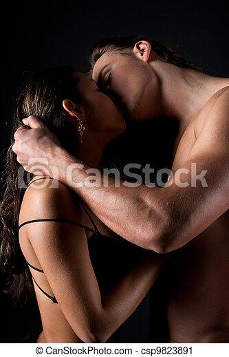 Passionate couple having sex - csp9823891