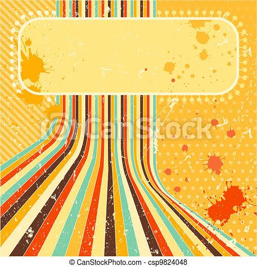 Grunge background. A vintage poster. - csp9824048