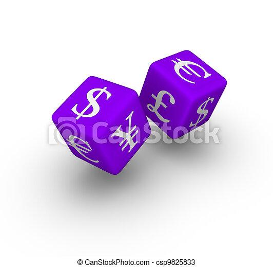 currency exchange dice  - csp9825833