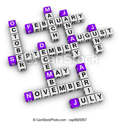 all months of the year - csp9825857