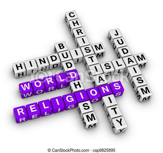 major world religions - csp9825895