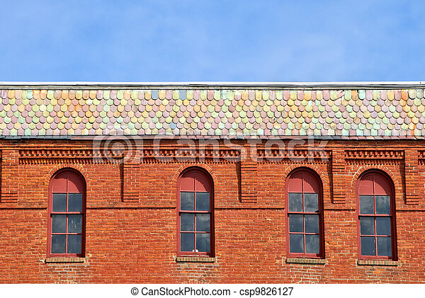Brick Building - csp9826127