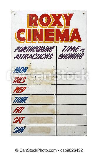 Retro Roxy Cinema sign - csp9826432