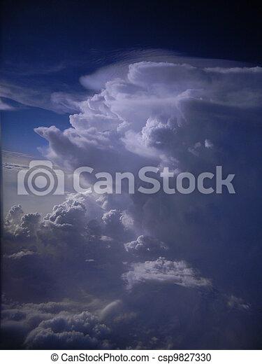 Towering cumulus clouds - csp9827330