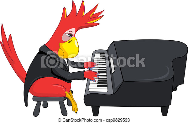Piano Character Cartoon Images