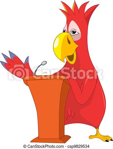 Funny Parrot. Presentation. - csp9829534