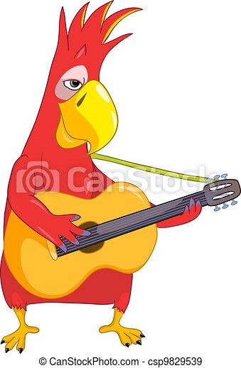 Funny Parrot. Guitarist - csp9829539