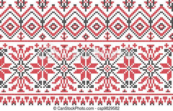Cross Stitch Drawings Ornament Cross-stitch on