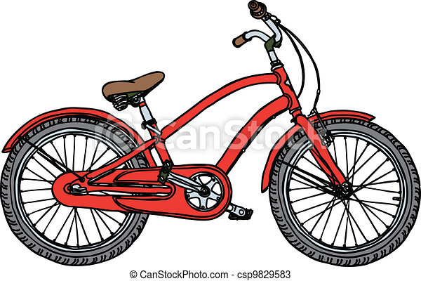 Old bicycle - stylized vector illustration - csp9829583