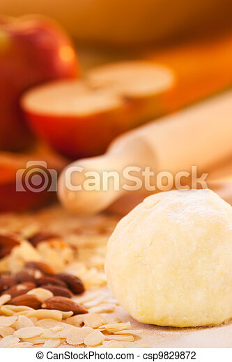 Apple pie ingredients - csp9829872