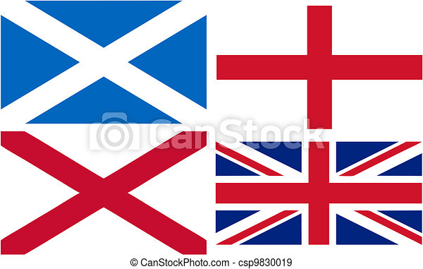 making of the Union Jack flag - csp9830019