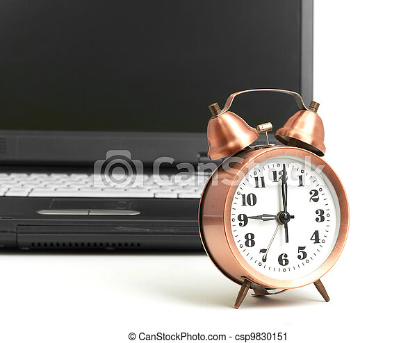 Conceptual shot of office work in relation with time efficiency. - csp9830151