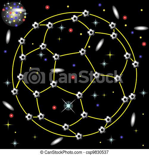 constellation of football - csp9830537