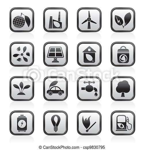 Green, Environment and ecology Icon - csp9830795