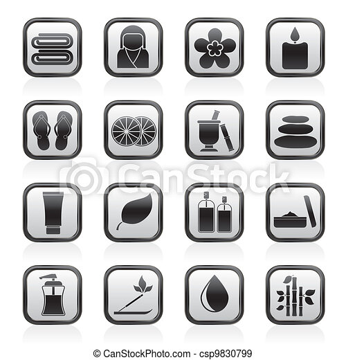 Spa objects icons - csp9830799